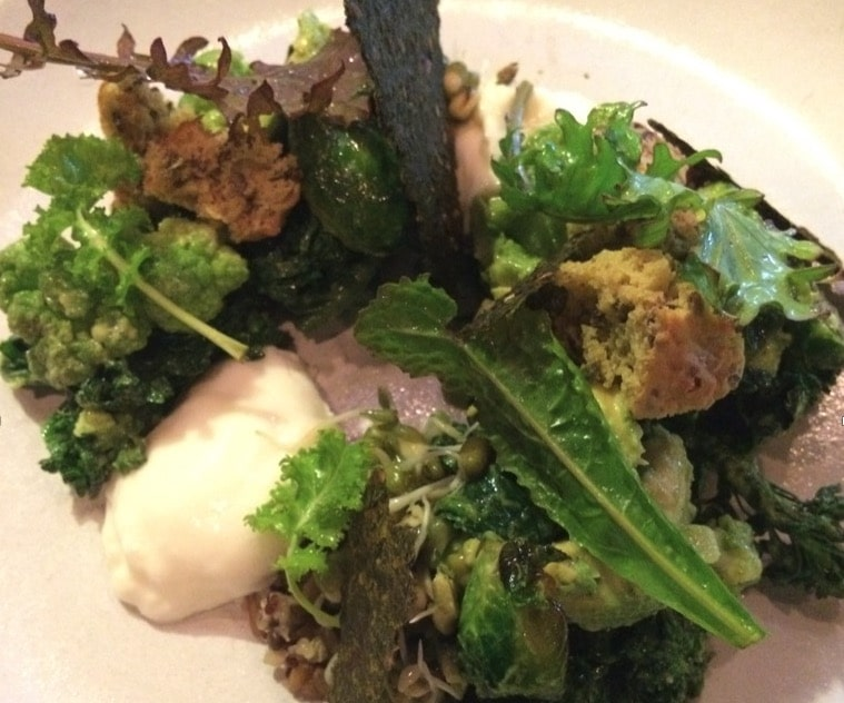 Recipe: Burrata with Green Goddess Dressing, Avocado and Broccolis